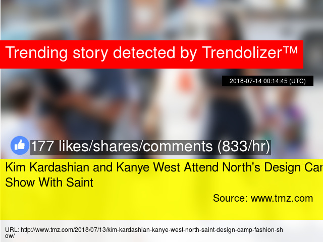 f51f874917214 Kim Kardashian and Kanye West Attend North s Design Camp Show With Saint -  Stats