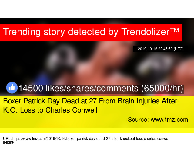 Boxer Patrick Day Dead At 27 From Brain Injuries After K O