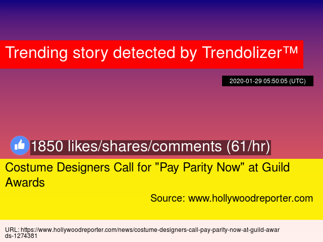 Costume Designers Call For Quot Pay Parity Now Quot At Guild Awards