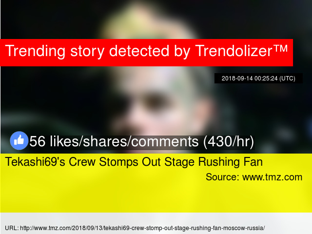 Tekashi69s Crew Stomps Out Stage Rushing Fan